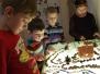 Vaikų kūryba prie šviesos stalo