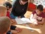 Visą savaitę bibliotekos darbuotojos Jolanta ir Rita sekė vaikams netikėtas pasakas